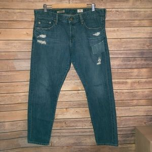 AG The Nikki Cropped Relaxed Skinny 32